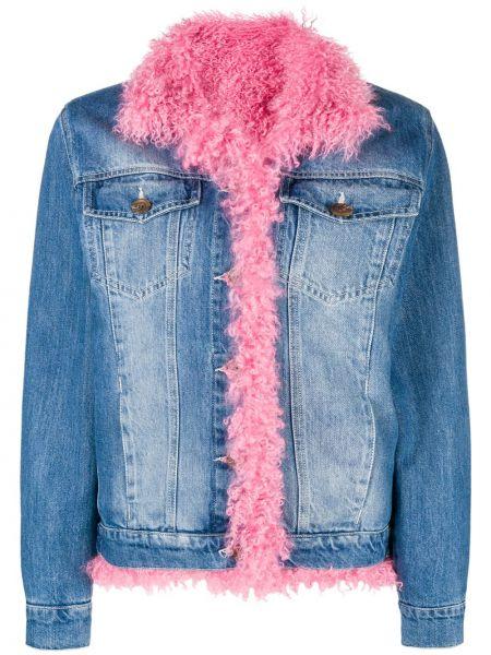 Ватная синяя джинсовая куртка с воротником Simonetta Ravizza