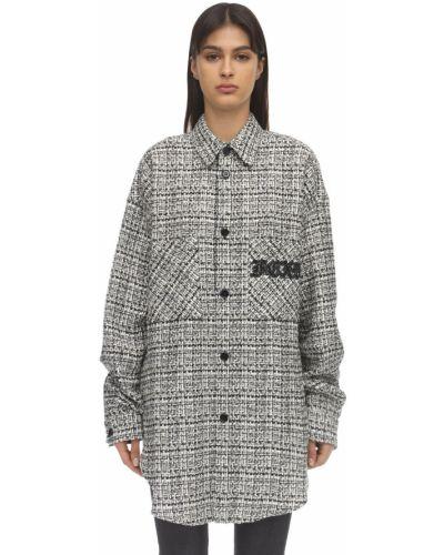Пиджак твидовый оверсайз с вышивкой с воротником Faith Connexion