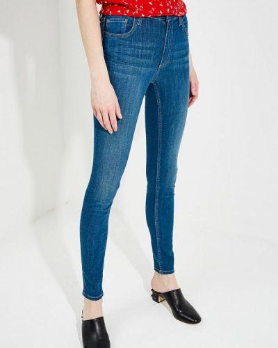 Синие джинсы-скинни French Connection