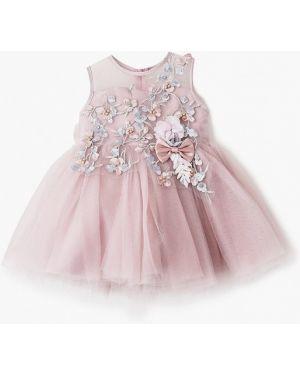 Платье на торжество розовый Mili