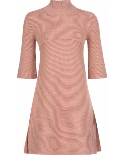 Шерстяное платье - розовое Stella Mccartney