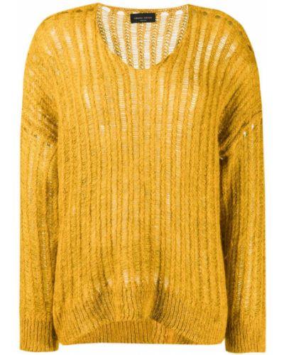 Джемпер в полоску желтый Roberto Collina