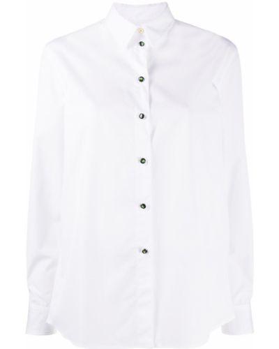 Белая классическая рубашка с воротником с длинными рукавами Paul Smith