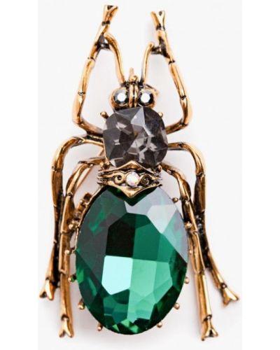Брошь из золота зеленый Patricia Bruni