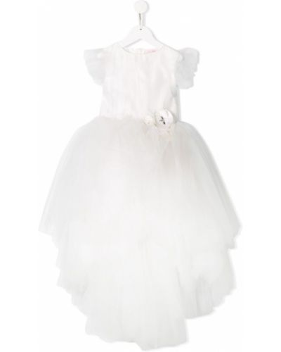 Пышное платье из фатина с рукавами Miss Blumarine
