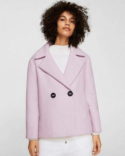 Розовое пальто весеннее Mango
