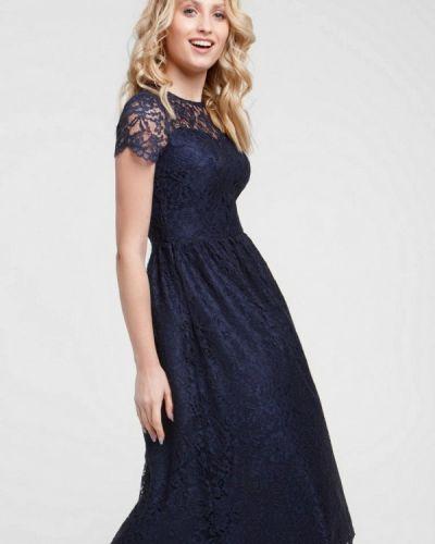 Вечернее платье осеннее синее Evercode