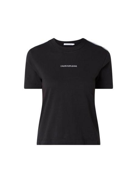 Bawełna czarny koszula jeansowa z dekoltem okrągły Calvin Klein Jeans