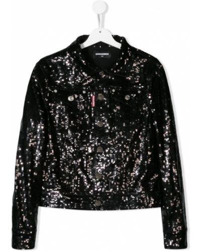 Пиджак черный Dsquared2 Kids