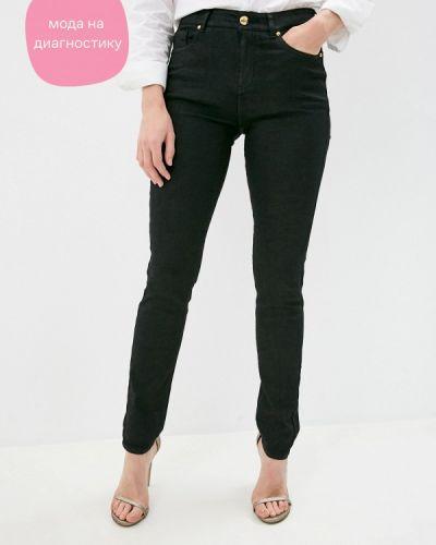 Черные джинсы-скинни узкого кроя Cavalli Class
