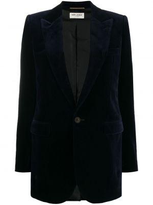 Блейзер длинный - синий Saint Laurent