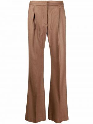 Шерстяные брюки - коричневые Pt01