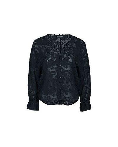 Черная блузка из вискозы Emporio Armani