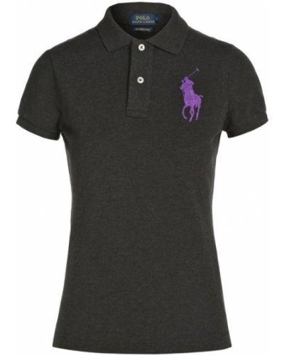 Черное поло с логотипом Polo Ralph Lauren