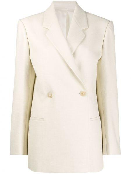 Приталенный классический пиджак с карманами Toteme
