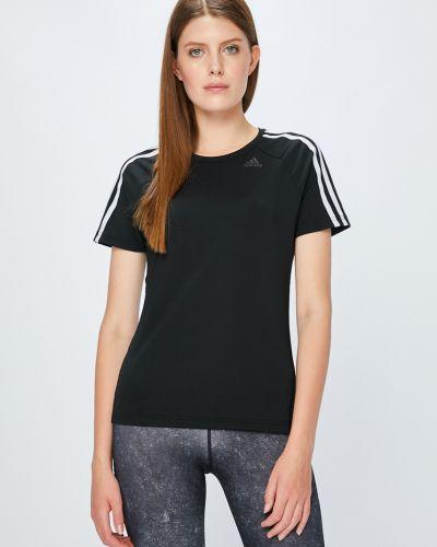 Спортивная футболка однотонная облегающая Adidas Performance