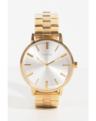 Часы с круглым циферблатом золотого цвета Parfois