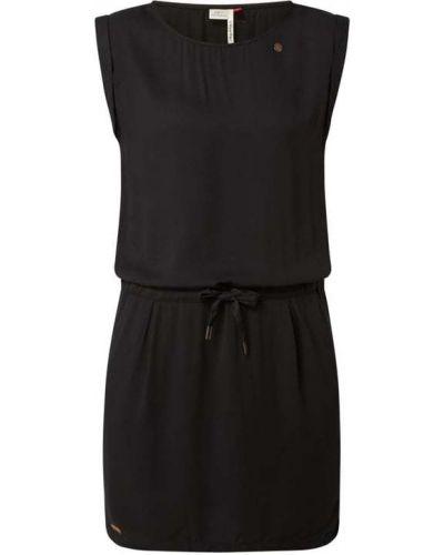 Czarna sukienka z wiskozy Ragwear