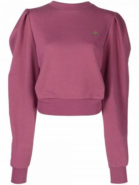 Розовая свитшот с вышивкой Vivienne Westwood