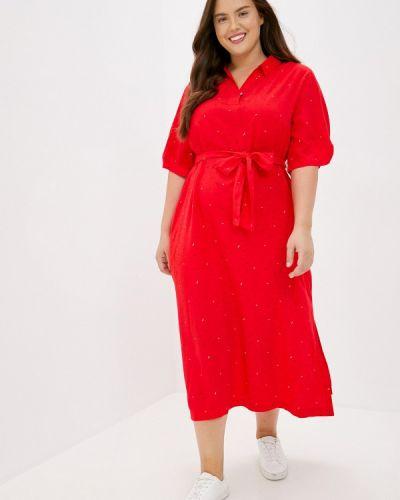 Повседневное свободное красное платье Finn Flare