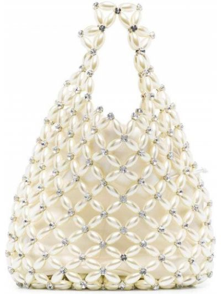 Biała torebka perły Simone Rocha