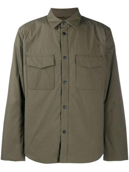 Zielony klasyczna koszula z kołnierzem z kieszeniami z łatami Rag & Bone