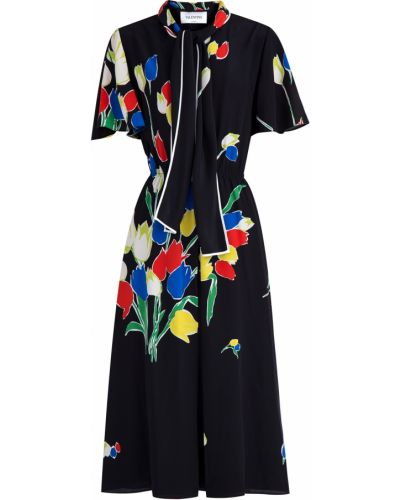 Платье миди с драпировкой винтажная Valentino