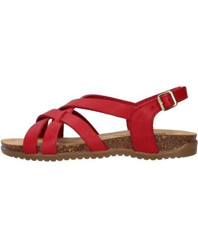 Czerwone sandały Bionatura