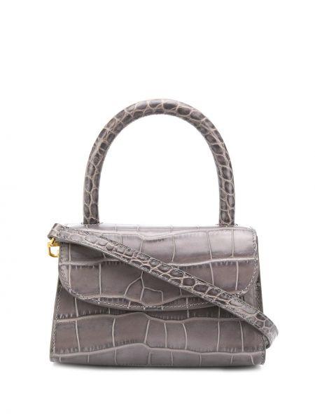 Skórzana torebka na ramię z uchwytem By Far