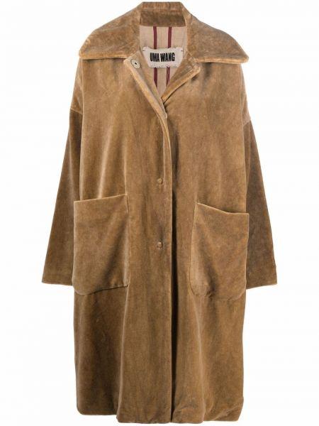 Хлопковое пальто хаки Uma Wang