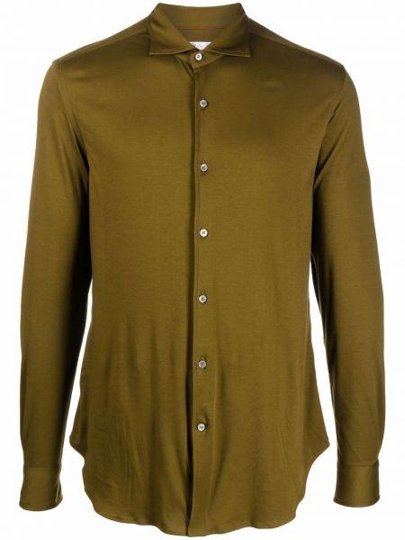 Zielona klasyczna koszula Loro Piana