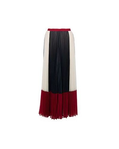 Плиссированная юбка макси Valentino Red