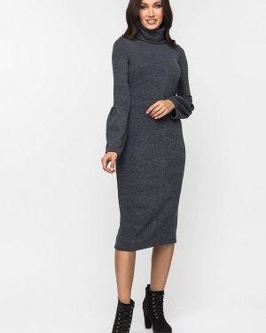 Платье серое вязаное Gloss