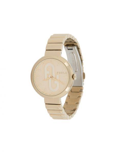 С ремешком золотистые часы золотые Furla