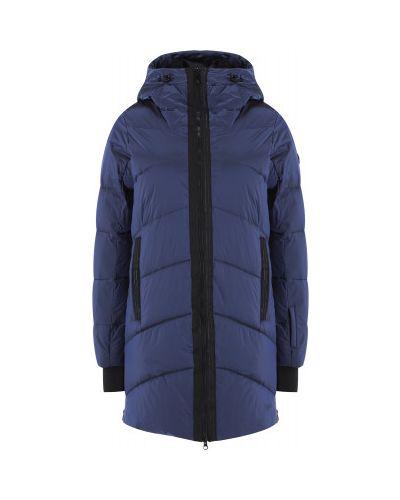 Прямая утепленная синяя куртка Glissade
