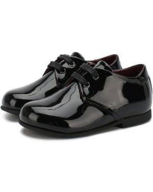 Кожаные туфли на каблуке на шнурках с подкладкой Dolce & Gabbana