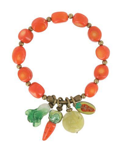 Оранжевый браслет французский Nature Bijoux