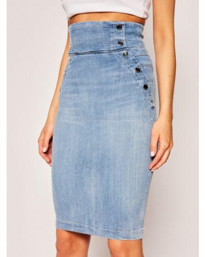 Niebieska spódnica ołówkowa Guess