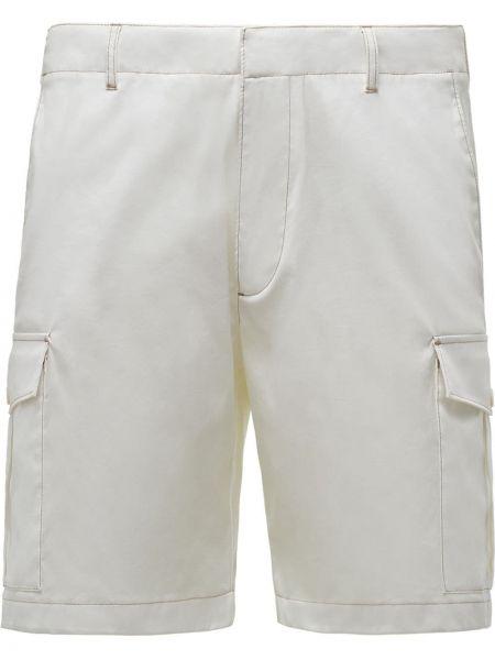 Biały bawełna bawełna szorty z kieszeniami Prada