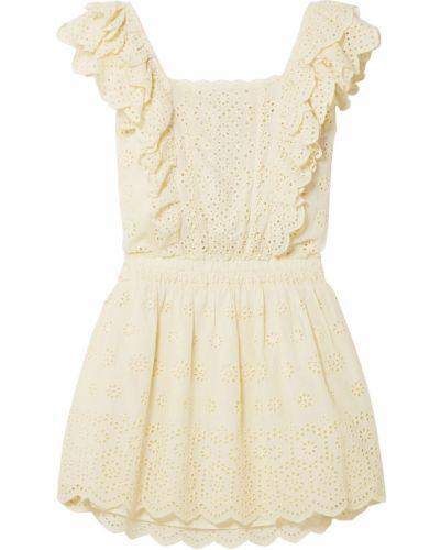Пляжное желтое платье мини с подкладкой Loveshackfancy