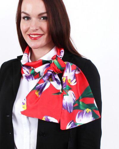 Красный шарф шелковый Lorentino