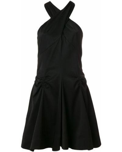 Платье со складками с вырезом Carven