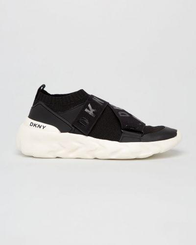Кроссовки черные текстильные Dkny