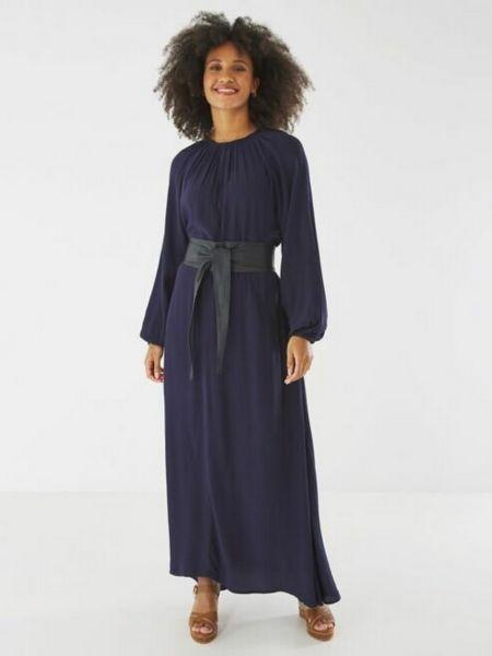 Платье макси длинное - синее Mexx