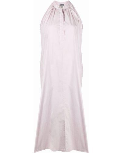 Хлопковое фиолетовое платье миди без рукавов Kristensen Du Nord