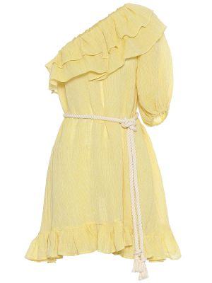 Желтое льняное платье мини Lisa Marie Fernandez