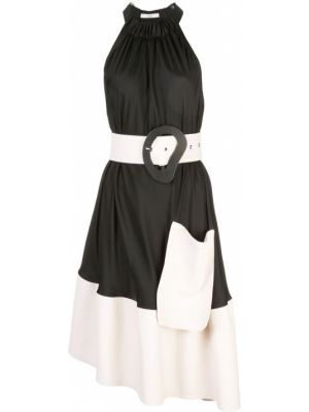 Платье с поясом с драпировкой с рукавами Tibi