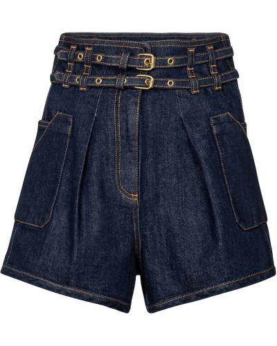 Ватные хлопковые синие джинсовые шорты Philosophy Di Lorenzo Serafini