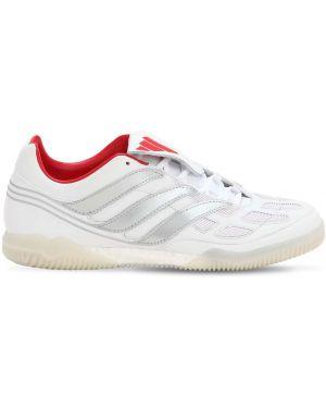 Białe sneakersy sznurowane koronkowe Adidas Football