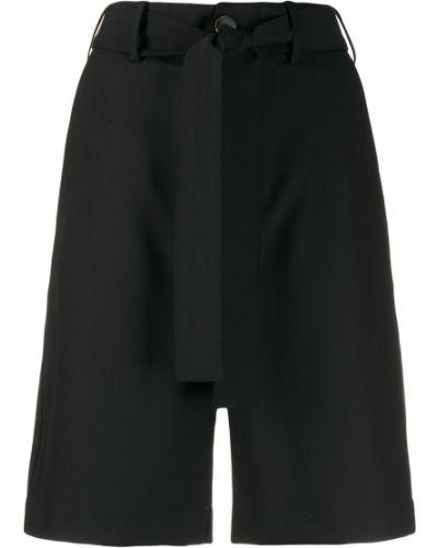 Черные шорты с карманами на пуговицах Plan C